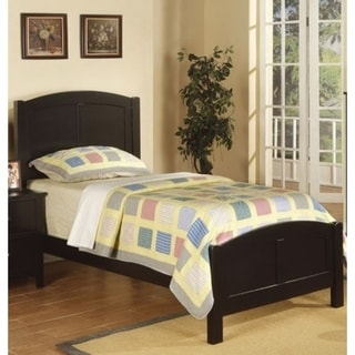 Wooden Twin Size Bed With Headboard And Footboard, Black