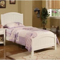 Dreamy Wooden Transitional Twin Bed, White