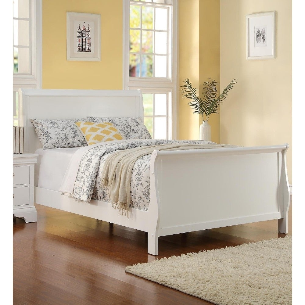 - Shop Copper Grove Dock White Full Wooden Sleigh Bed - Overstock
