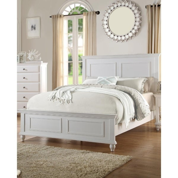 Shop Captivating Queen Wooden Bed, White - Free Shipping Today ...
