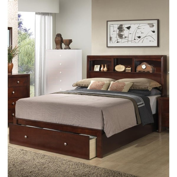 Clic E King Wooden Bed With Hb And Fb Storage