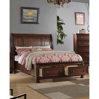 Splendid Wooden E.King Bed, Antique Cherry Finish