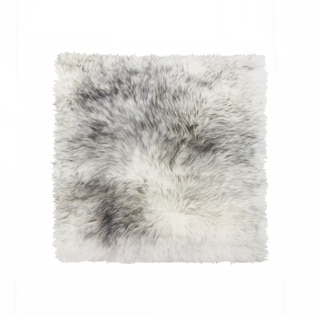 Sheepskin Chair Seat Cover 17x17 Gradient Grey