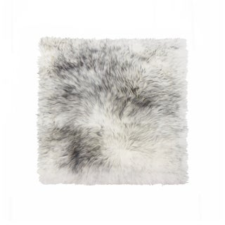 Link to Sheepskin Chair Seat Cover 17x17 Gradient Grey Similar Items in Table Linens & Decor