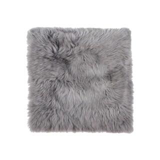 """100% New Zealand Sheepskin Chair Seat Pad 17""""X17""""- Grey"""