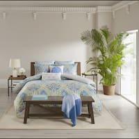 Echo Design Ravi Blue Oversized Cotton Reversible Print Comforter Set
