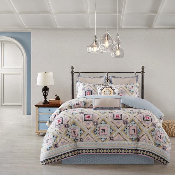 Shop Echo Design Ibiza Cotton Reversible Print Comforter Set Free