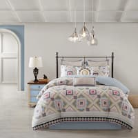 Echo Design Ibiza Cotton Reversible Print Comforter Set