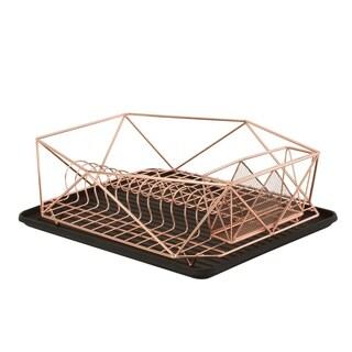 Geode Dish Rack in Copper - Orange