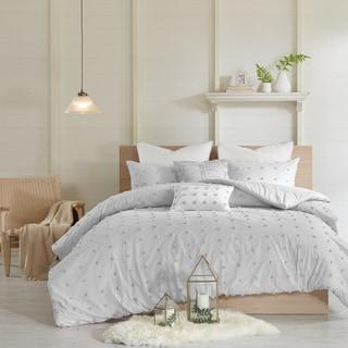 Link to Urban Habitat Maize Grey Cotton Jacquard 7-piece Comforter Set Similar Items in Comforter Sets