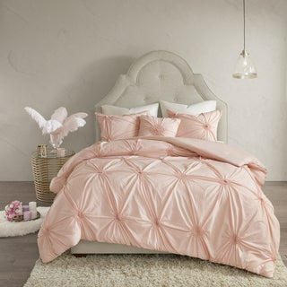 Madison Park Lorilyn Blush 4-piece Comforter Set with Elastic Embroidery