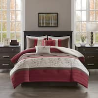 510 Design Lecia Red Embroidered 5-piece Comforter Set