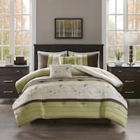510 Design Lecia Green Embroidered 5-piece Comforter Set