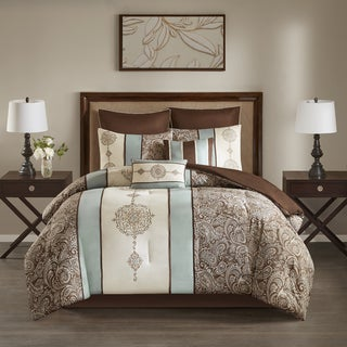 510 Design Marlena Blue Embroidered 8-piece Comforter Set