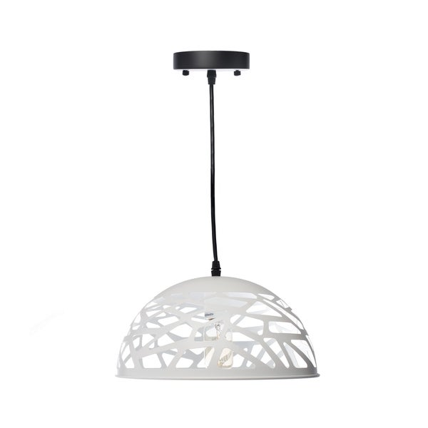 Modern Touch Large Oval Pendant Lamp- White
