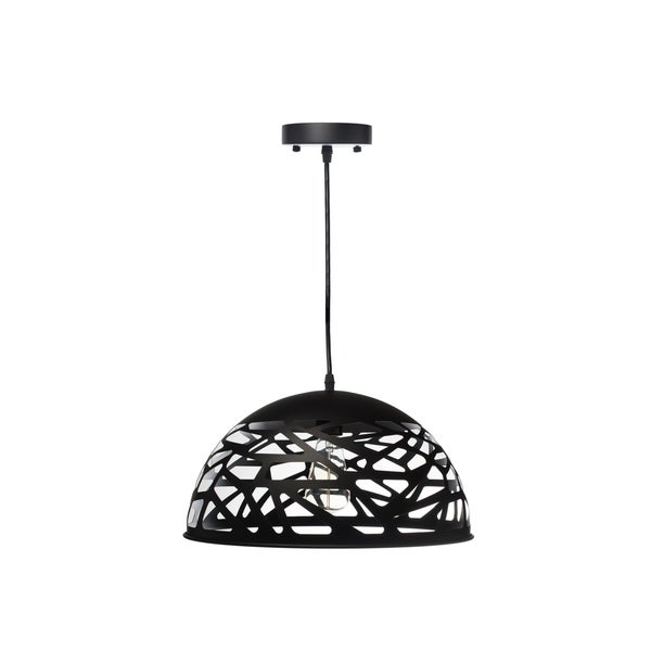 Modern Touch Large Oval Pendant Lamp-Black