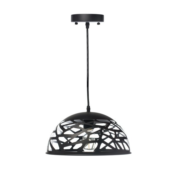 Modern Touch Small Oval Pendant Lamp- Black