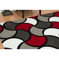 Westfield Home Gallery Bridle Red Area Rug - 7'10 x 10'6