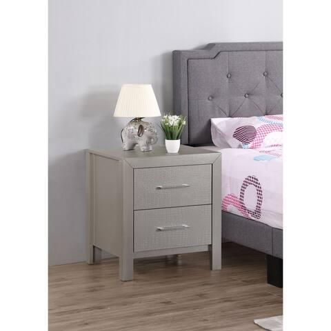 Glades 2-drawer Wood Nightstand