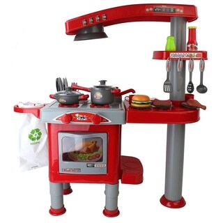 Your Kitchen & Grill Red Toy Kitchen Playset