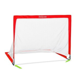 GoSports Soccer 4' Size Portable Goal, Red, 4'X3' - Includes 1 Goal