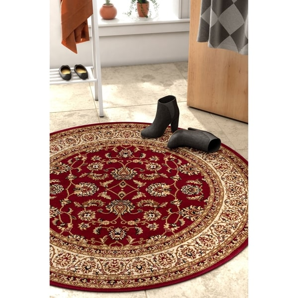 Well Woven Gwalia Traditional French Oriental Round Rug - 3'10