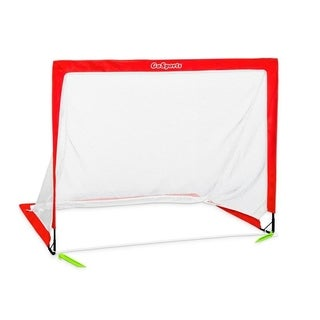 GoSports Soccer 6' Size Portable Goal, Red, 6'X4' - Includes 1 Goal