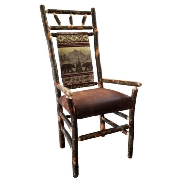 Shop Set Of Two Rustic Hickory High Back Dining Chairs