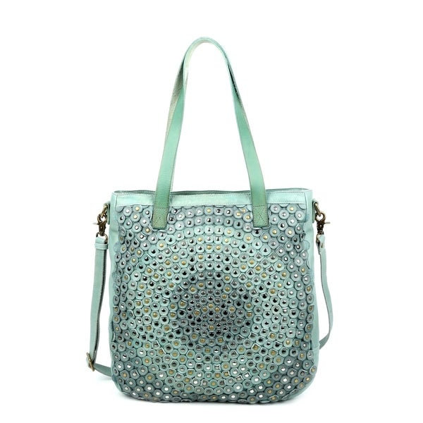 Old Trend Stellar Stud Genuine Leather Tote Bag. Opens flyout.