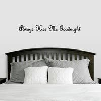 Always Kiss Me Goodnight Wall Decals Wall Stickers