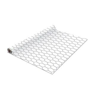 2 Pack Honeycomb Self-Adhesive Shelf Liner in White