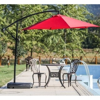 Mountain Creek 9' Cantilever Umbrella Set with Free Standing Base