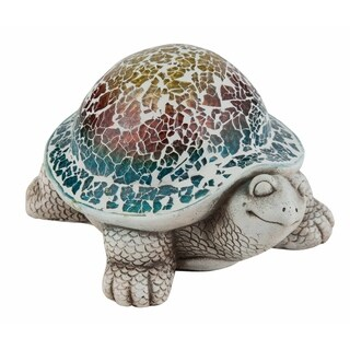 Small Cement Mosaic Turtle