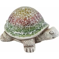 Large Cement Mosaic Turtle