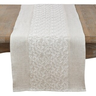 Fancy Floral Embroidery Runner