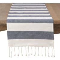 Cotton Striped Tassel Runner