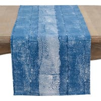 Hand Blocked Cotton Brushed Table Runner