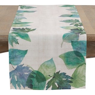 Watercolor Leaf Table Runner
