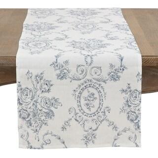 Floral Story Linen Table Runner