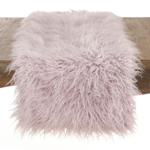 Mongolian Faux Fur Runner