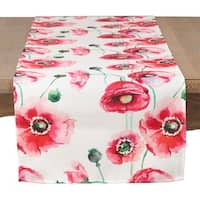 Painted Poppies Table Runner
