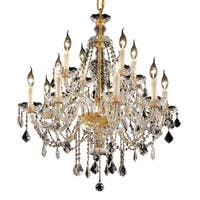 Fleur Illumination Collection Chandelier D:28in H:31in Lt:12 Gold Finish