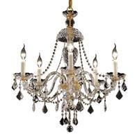 Fleur Illumination Collection Chandelier D:25in H:28in Lt:5 Gold Finish