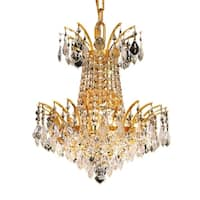 Fleur Illumination Collection Pendant D:16in H:16in Lt:4 Gold Finish