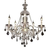 Fleur Illumination Collection Chandelier D:25in H:28in Lt:5 Chrome Finish