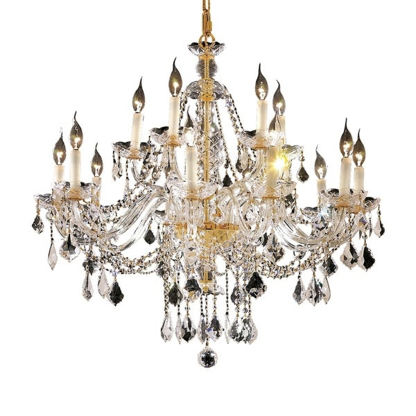 Fleur Illumination Collection Chandelier D:35in H:31in Lt:15 Gold Finish