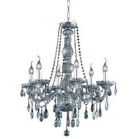 Fleur Illumination Collection Chandelier D:24in H:28in Lt:6 Silver Shade Finish