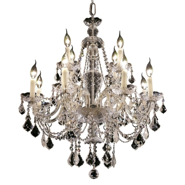 Fleur Illumination Collection Chandelier D:28in H:31in Lt:12 Chrome Finish