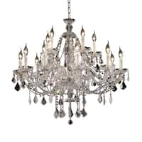 Fleur Illumination Collection Chandelier D:35in H:31in Lt:15 Chrome Finish