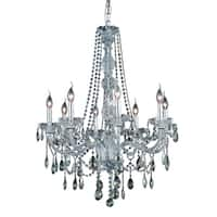 Fleur Illumination Collection Chandelier D:28in H:34in Lt:8 Chrome Finish